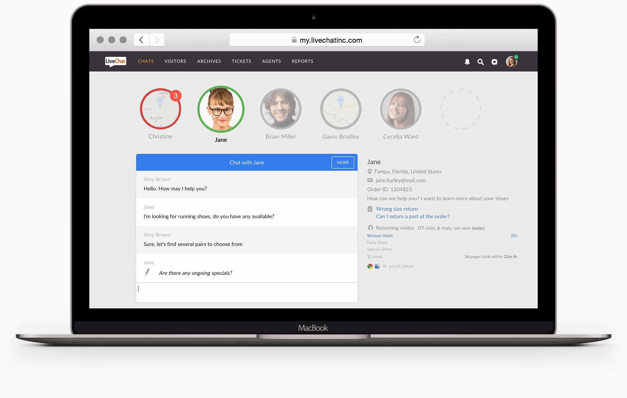 LiveChat - Klienci czekający na twojej stronie